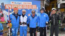 Luca Lotti con Giampiero Danti, Rolando Galli e Innerhofer (foto Luca Castellani)