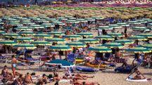 La spiaggia a Rimini