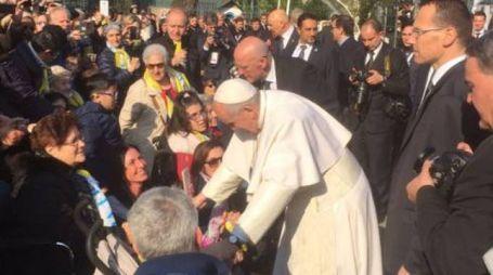 Papa Francesco a Milano (Foto Twitter Papa Milano 2017)