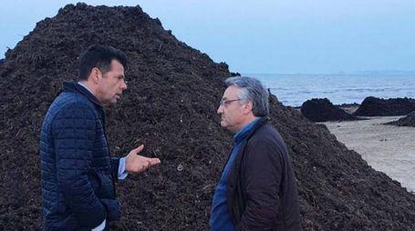 Ancona, il sindaco Mangialardi con l'assessore regionale Sciapichetti (foto Effimera)