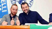 Andrea Cella insieme a Matteo Salvini (foto di repertorio)