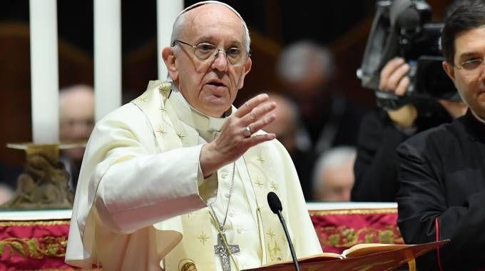 Papa Francesco nel Duomo di Milano