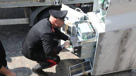 Il recupero del bancomat, hanno agito quattro pattuglie dei carabinieri della Compagnia di Cesena