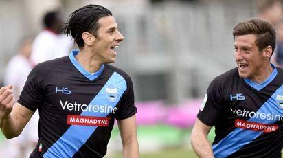 Floccari esulta dopo un gol (foto Businesspress)