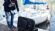 Rinvenimento del cadavere nella valigia (Foto Migliorini)