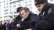 Russai, il momento del fermo di Alexei Navalny (Ansa)