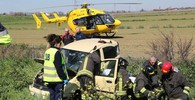 Incidente in A14 tra Imola e Castel San Pietro, i soccorsi (foto Isolapress)