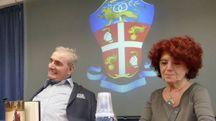 Giangrande e il ministro Fedeli (foto Attalmi)