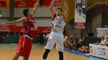 La partita tra le nazionali di Turchia e Tunisia a Bormio nel 2015