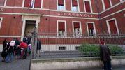 L'ingresso delle scuole Carducci (Foto Schicchi)