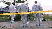 Il sopralluogo degli inquirenti (dal video su www.tvnz.co.nz)