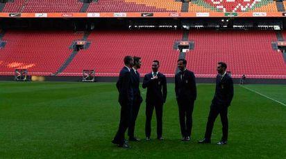 Gli azzurri all'Amsterdam Arena (LaPresse)