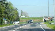 L'incidente è avvenuto lungo via Sinistra Canale Superiore (Foto Scardovi)