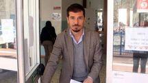 Marco Stella alla scuola Rodari (foto Umberto Visintini/New Pressphoto)