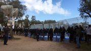 Tap, la manifestazione nel cantiere (Ansa)