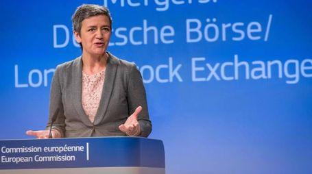 Il commissario Ue alla Concorrenza Margrethe Vestager (Afp)