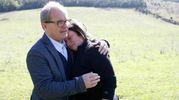 La proprietaria distrutta. Con lei il presidente di Coldiretti Siena (Foto Di Pietro)