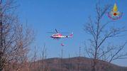 L'elicottero dei vigili del fuoco in provincia di Firenze