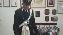 La statua della Madonna recuperata dai carabinieri