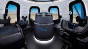 Sedili reclinabili e finestre panoramiche (Foto: Blue Origin)