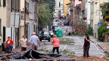 I danni a Cerreto Guidi dopo la tempesta del 19 settembre 2014 (Gianni Nucci/Germogli)