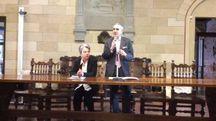 L'assessore Vannozzi e il sindaco Valentini durante la presentazione