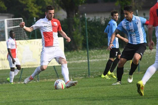 Una fase della partita fra Rimini e Corticella (foto Schicchi)