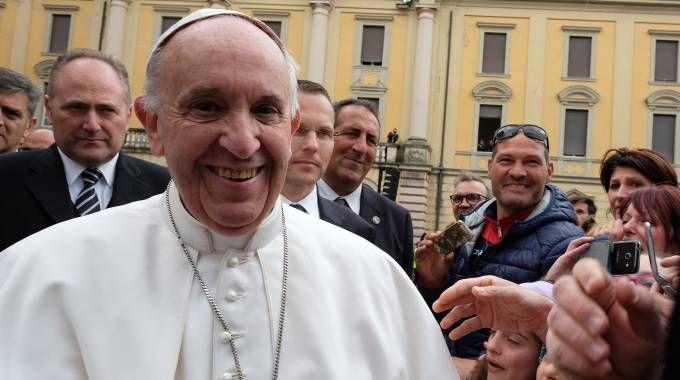 Papa Francesco a Mirandola (foto Walter Bellisi)