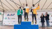 I vincitori della mezza maratona di Rovigo (foto Donzelli)