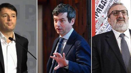 Primarie Pd, il voto nei circoli: Renzi, Orlando, Emiliano (Ansa)