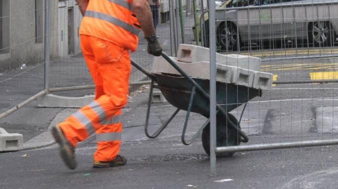 Lavori stradali (foto di repertorio)