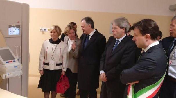 L'inaugurazione con il ministro Lorenzin e il premier Gentiloni (Ufficio stampa Lorenzin)
