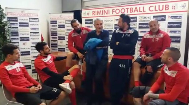 Rimini promosso in serie D, i giocatori invitano la città alla festa