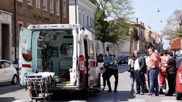 L'incidente in corso Giovecca (foto Businesspress)