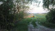 L'arrivo dell'elisoccorso (foto Vanini)