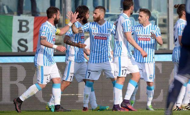 L'esultanza per il gol dello 0-1 di Mora (Foto LaPresse)