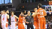 Momenti di tensione durante la partita (foto Artioli)