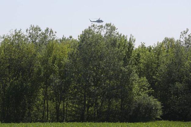 Elicotteri in azione per dare la caccia a Igor il russo (Foto Schicchi)