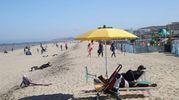 E' vero che ci sono le dune, è vero che le folate d'aria si sentono ed è vero che i venti gradi sono superati di giusto un paio di tacche, ma per aprire una manciata di ombrelloni e posizionare le prime file di lettini non è mai troppo presto (Foto Ravaglia)