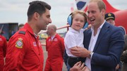 William con George alla Royal Air Force Aerobatic Team (Ansa)