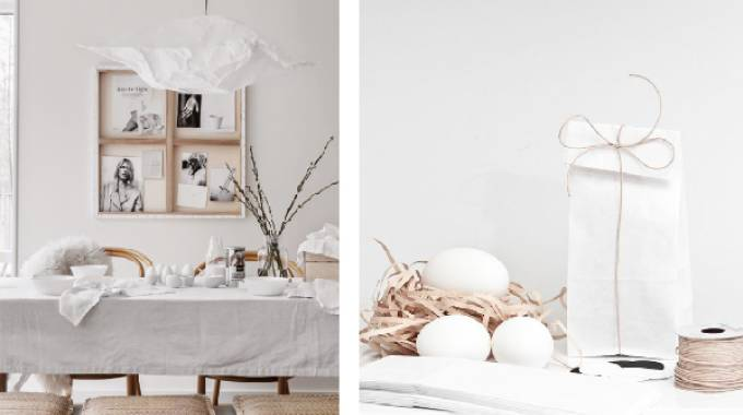 Mise en place di Pasqua total white