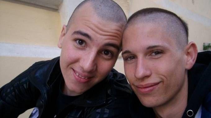 Stefano Mortilli e Mauro Lai in una foto di qualche anno fa, i due erano migliori amici