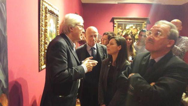 Vittorio Sgarbi con Ilvo Diamanti e Antonio De Simone (Fotoprint)