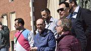 Una protesta dei lavoratori della Grandi Molini Italiani