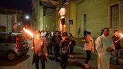 Un momento della Via Crucis cittadina (foto Frasca)