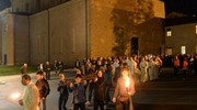 Il corteo è passato dall'auditorium San Giacomo (foto Frasca)