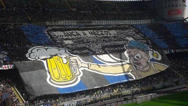 La coreografia della Curva Nord dell'Inter