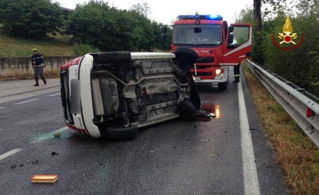 L'incidente è avvenuto sulla Statale 16 a Castelfidardo