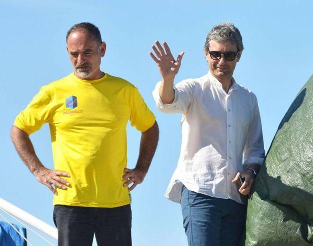 Pasqua 2017, in spiaggia c'è anche il sindaco di Rimini, Andrea Gnassi (foto Migliorini)