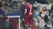 Cesena-Spezia 1-0, l'espulsione (foto Ravaglia)